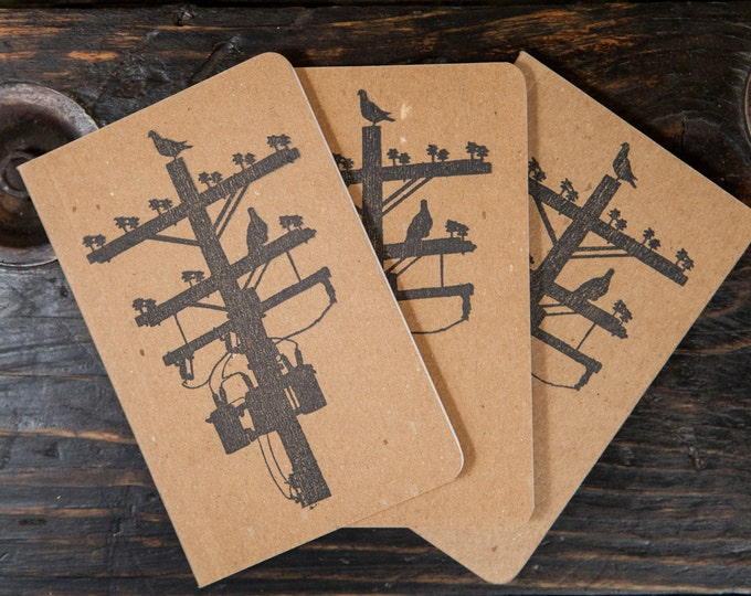 """Pigeon Tree Crafting Recycled Notepads Field Notes Size 3.5"""" X 5.5"""" Made in USA!"""