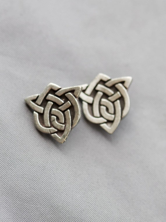 Heart Irish Celtic Knot Shamrock Cufflinks Men S Cufflinks