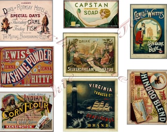 Vintage Labels Ads 1851 To 1885 Instant Download Laundry Products Tobacco