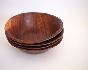 Vintage Acacia Bowls s/4