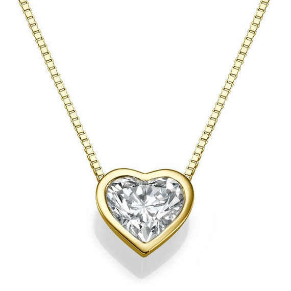 Heart shape diamond pendant necklace 14k gold necklace love aloadofball Gallery