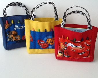 Disney Cars Children's Crayon Bag and Customized Paper your choice, Party Favors