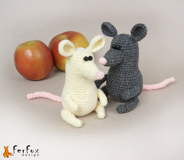 Häkeln Häkeln Tier Maus ausgestopfte Maus Amigurumi Mäuse