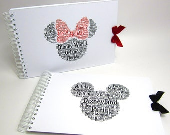 Scrapbook Disney Mickey or Minnie Mouse, Disney Land Disneyworld, Photo Album A4