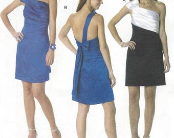 Phoebe Couture Womens One Shoulder Dress Perfect for Prom or Bridesmaid OOP McCalls Sewing Pattern M6330 Size 4 6 8 10 12 Bust 31 1/12 to 34