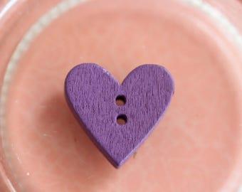 Buttons wood purple heart