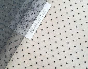Gray tulle fabric,Lingerie Gray net, Gray net fabric, lingerie net fabric, elastic tulle, T00125