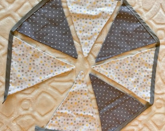 Fabric Bunting Banner. Baby Boy Bunting . Baby Shower Decoration. Baby Bedroom Decoration. Flag Garland.