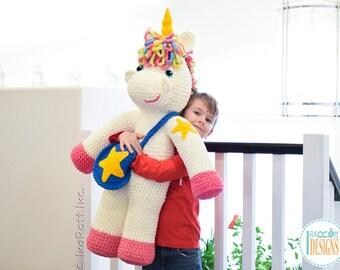 CROCHET PATTERN - Sophia The Starry Unicorn Big Amigurumi Crochet PDF Pattern with Instant Download