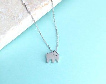 Elephant necklacegeometric elephant necklaceorigami elephant 14k white gold necklacewhite gold elephant necklaceelephant necklacediamond necklace aloadofball Choice Image