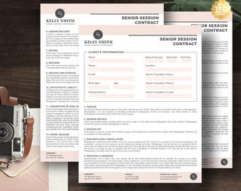 Photography gift card template photoshop gift certificate session contract template for senior photographer photography contract form in ms word and adobe photoshop yelopaper Choice Image