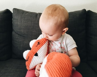 Ragdoll-style fox - Ragdoll fox knitting Pattern - Fox gift - Animal Pattern - Fox party - PDF knitting pattern