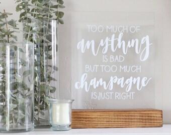 "acrylic calligraphy wedding sign: custom 8"" x 10"" or 11"" x 14"" | acrylic sign | plexiglass sign | lucite sign |"