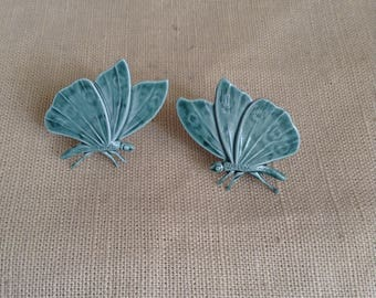 "1970's ""butterfly"" earrings."