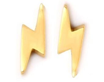 LIGHTNING Bolt Stud Earrings, Lightning Bolt Studs, Silver Lightning Bolt Stud Earrings, Silver Lightning Bolt Studs