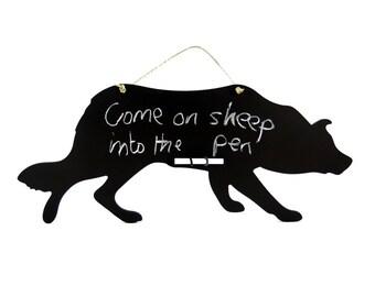 Sheep Dog Chalkboard