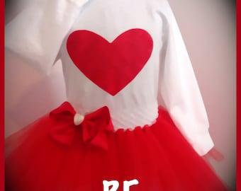 Valentine Red Heart Tutu Sets !