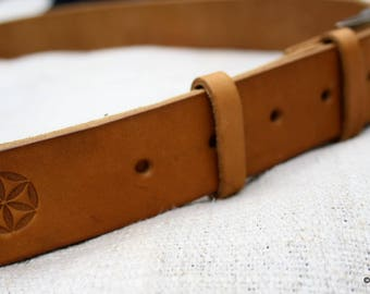 High-quality leather belt