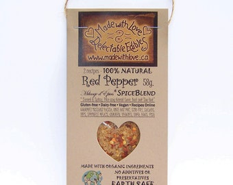 2 oz Red Pepper Artisan Spice Blend - Eco Gourmet 2 oz Sampler-size - Gluten Free Dairy Free Food Market  BBQ Grill Spice - Herbs & Spices