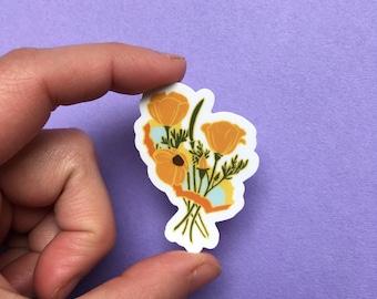 California Poppies sticker
