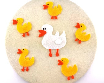 Activity Montessori Learning Toy Gift, Duck Felt Board, Quiet Montessori Activity Toy,  Learning at Home, Learning Felt Toys Activity Gifts