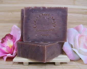 Strawberry Shortcake Soap Vegan Strawberry Shortcake Cold Processed Soap Exfoliating Soap with Strawberry Seeds