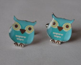 Blue Owl Cufflinks