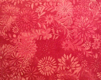 100 percent cotton batik fabric/pink/light pink/quilting/crafts/apparel/by the yard