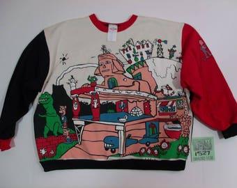 "1980's ""Pee-Wee's Playhouse"" Rare Sweatshirt"