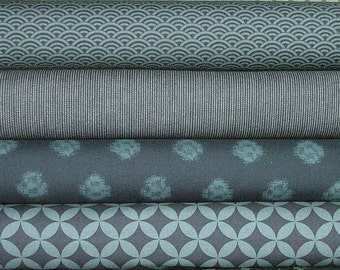 Indigo Fat Quarter Bundle of 4 by Moda - Only 2 Left