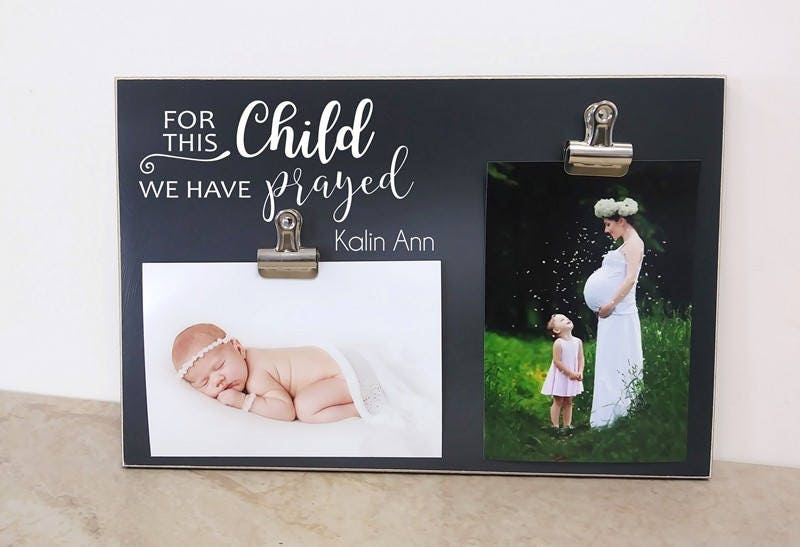 For This Child We Have Prayed Photo Frame, New Baby Gift Idea ...