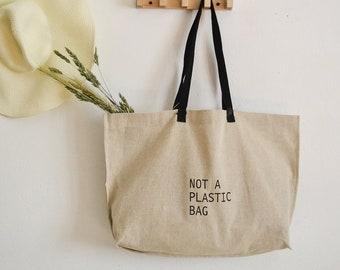 Linen beach bag ,Market bag,Shopper bag,Linen tote bag,Linen shopping bag,Reusable linen bag,Eco bag, Large linen tote bag, Grocery tote bag