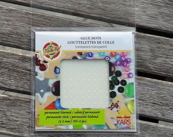 768 glue points transparent, DIY, Scrabbooking, collage, crafting, Ø 3 mm