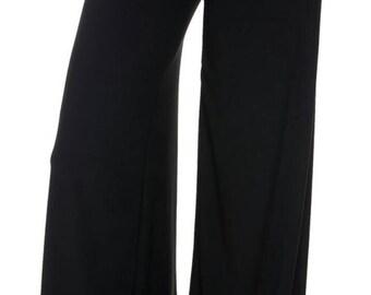 Palazzo pants - women's black