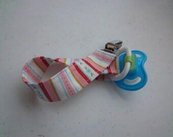 Sweet Divinity Sweet Stripe Pacifier Clip