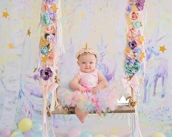 Baby Girl 1st Birthday Unicorn Outfit   Baby Tutu   Tutu Dress   Birthday Dress   Baby Girls Cake Smash Outfits   Birthday Tutu