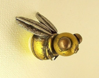 Franny Firefly Robot Lightening Bug Wood Pendant Ornament Dangle