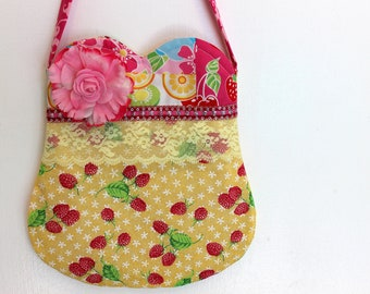 Raspberry Purse, girls purse, toddler purse, spring purse, girlie purse