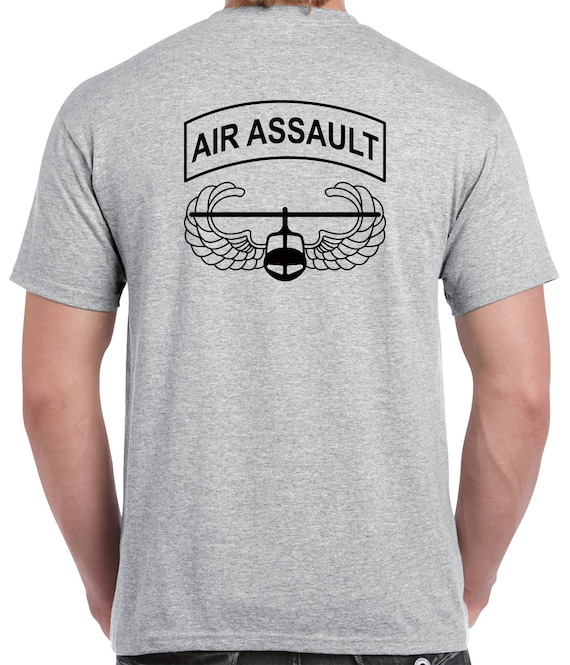 101st Airborne T-Shirt - air assault badge with 101st airborne patch design 1112 GFOLEqAvr
