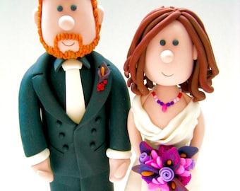 Custom Wedding Cake Topper / Handmade Clay Figurines /Personalized Wedding Cake Topper/Cartoon custom cake topper/Funny wedding cake topper