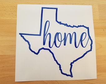 Texas State Home Decal