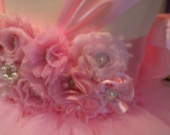 Flower Dress Birthday Dress Tulle Dress Wedding Dress Pink Tulle Ball Gown Toddler Tutu Dress Baby Dress 1T 2T 3T 4T 5T 6T 8T 10