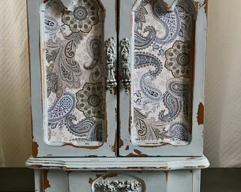 SOLD Vintage Jewelry Armoire Jewelry Armiore Painted