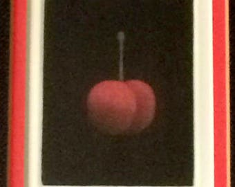 """Art - Original Mezzotint/Lithograph, by Yozo Hamaguchi """"Robina's Cherry"""" Signed and Numbered 146/150, Framed"""