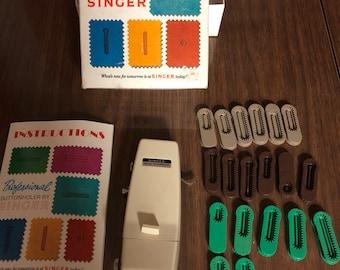 Singer Buttonholer for slant-needle and zig zag machines