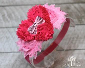 Valentines Day Heart Headband - Pink Valentines Day Headband  - Baby Headband - Heart Headband - Adult Headband