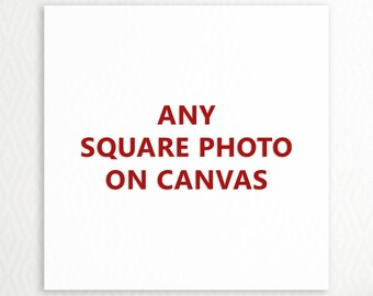 Any Square TravLin Photography Print On Canvas - Canvas Landscape Photo - Canvas Beach Art - Canvas Wall Art - Custom Sizes, Custom Colors
