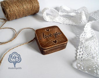 Wedding Ring Box Rustic Wedding Ring Personalized Wedding Ring Holder Ring Personalized Wood proposal ring box