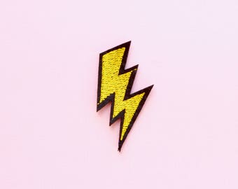 thunderbolt embroidered patch, Iron on patch, clothing patches, patches for jackets