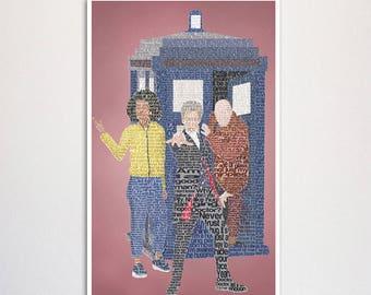 "Doctor Who: Twelfth Doctor word art print - 11x17"""